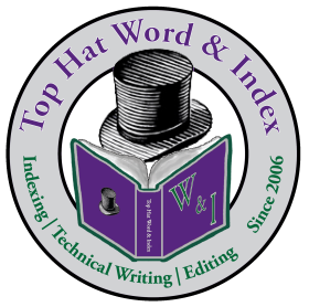 The logo of Top Hat Word & Index.